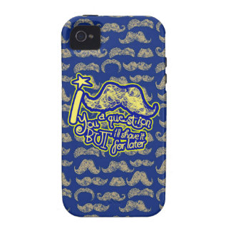 I mustache you a question blue & yellow Case-Mate iPhone 4 covers