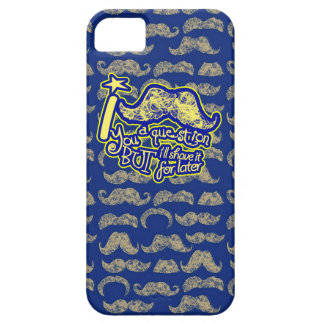 I mustache you a question blue & yellow iPhone 5 case