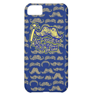 I mustache you a question blue & yellow iPhone 5C case