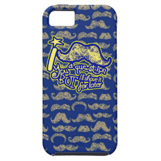 I mustache you a question blue & yellow iPhone SE/5/5s case