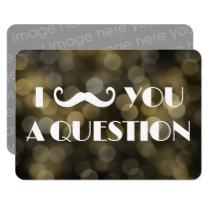 I Mustache You A Question Bokeh Lights Invitations