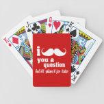 I mustache you a question card decks