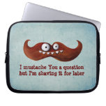 I Mustache You A Question... Computer Sleeve