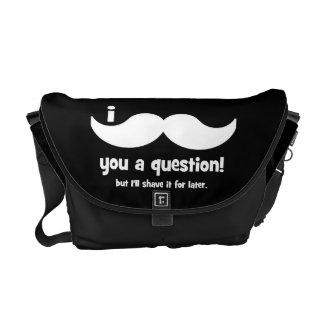 I mustache you a question courier bag