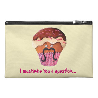 I Mustache you a question Cupcake Travel Accessory Bags