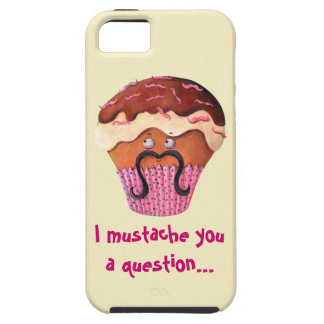 I Mustache you a question Cupcake iPhone 5 Covers