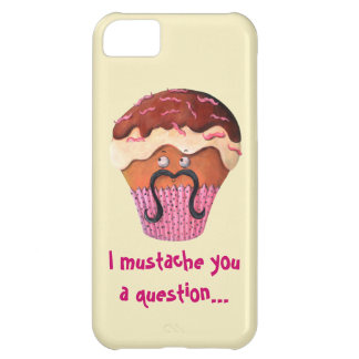 I Mustache you a question Cupcake Case For iPhone 5C