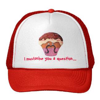 I Mustache you a question Cupcake Trucker Hat