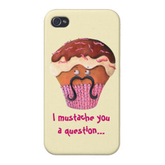 I Mustache you a question Cupcake iPhone 4/4S Cases