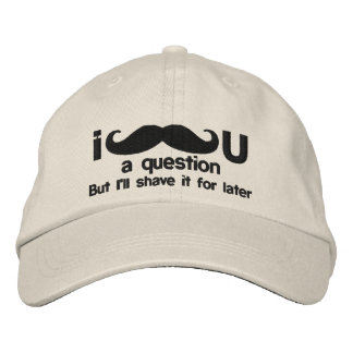i mustache you a question embroidered baseball cap