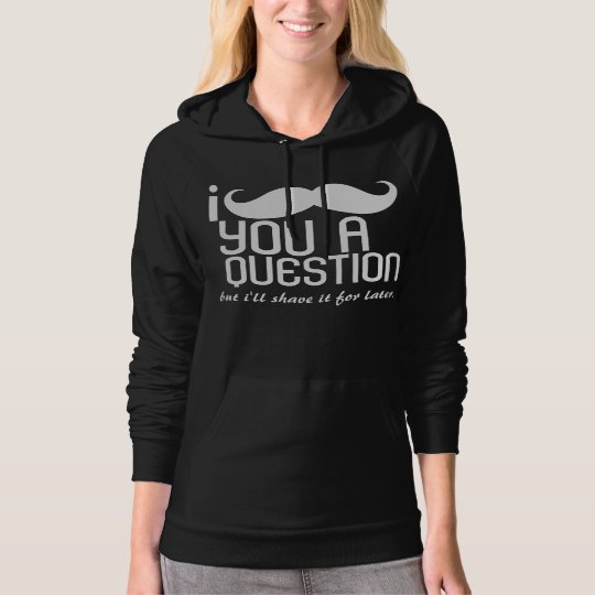 I Mustache You a Question Fleece Pullover Hoodie