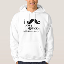 Men's Basic Hooded Sweatshirt with I Mustache You A Question ... design