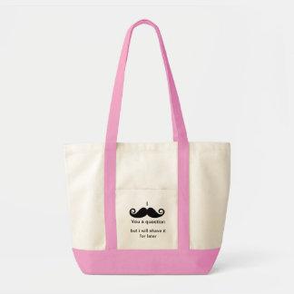 I mustache you a question impulse tote bag