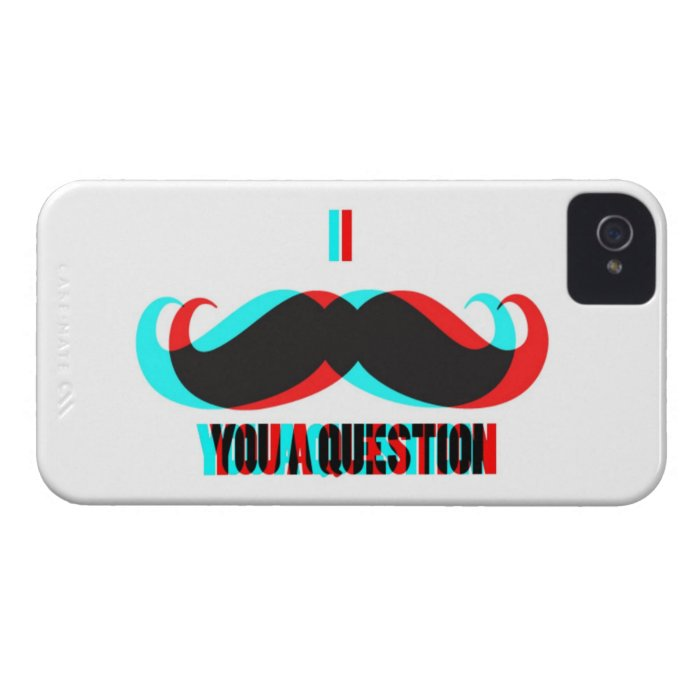 I Mustache You a Question in 3D iPhone 4 Cover