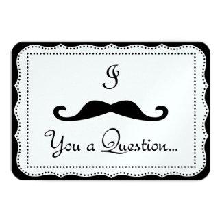 I mustache you a question personalized invitation