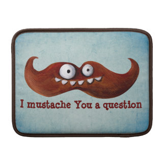 I Mustache You A Question... MacBook Air Sleeve