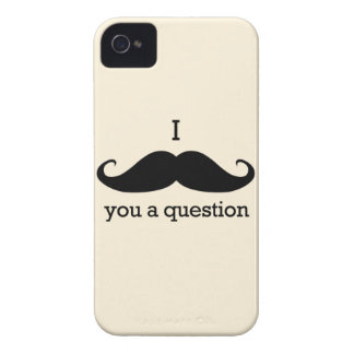 I Mustache You a Question iPhone 4 Case
