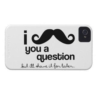 I mustache you a Question iPhone 4 Cover
