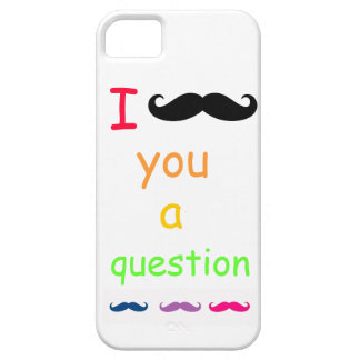 I mustache you a question iPhone SE/5/5s case