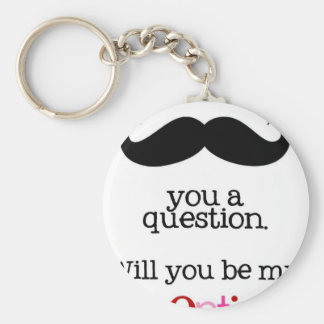 i mustache you a question keychain