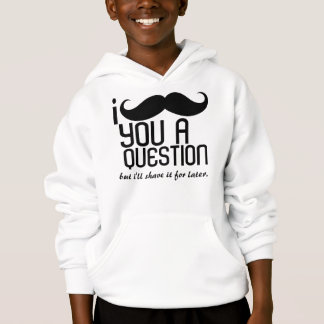 I Mustache You a Question Kids Hooded Sweatshirt