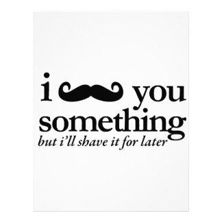 I Mustache You a Question Custom Letterhead
