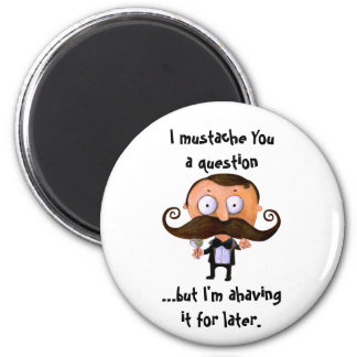 I Mustache You A Question... Magnets