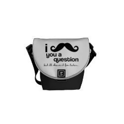 Rickshaw Mini Zero Messenger Bag with I Mustache You A Question ... design