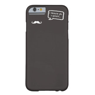 i mustache you a question mini gray iPhone 6 case