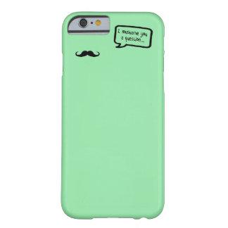 i mustache you a question mini pastel green iPhone 6 case