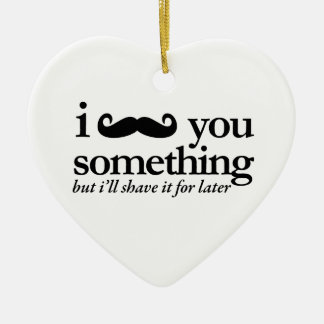 I Mustache You a Question Christmas Ornament