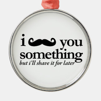 I Mustache You a Question Christmas Ornaments