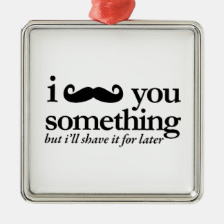 I Mustache You a Question Christmas Tree Ornaments