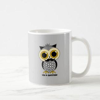 I mustache you a question owl coffee mug