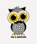 I mustache you a question owl shirt