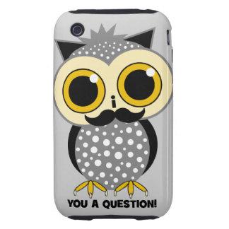 I mustache you a question owl tough iPhone 3 case