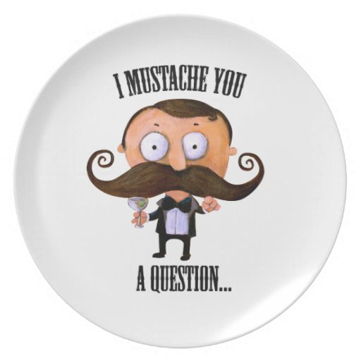 I Mustache You A Question... Party Plates
