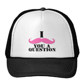 I Mustache You A Question Pink Moustache Trucker Hat
