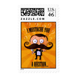 I Mustache You A Question Stamps