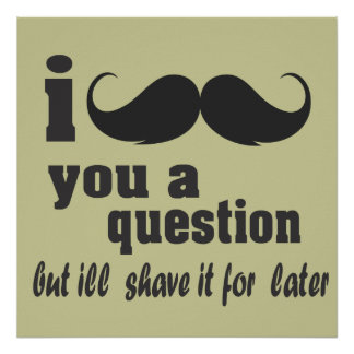 I mustache you a question poster