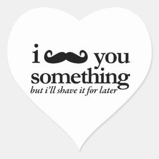 I Mustache You a Question Heart Sticker