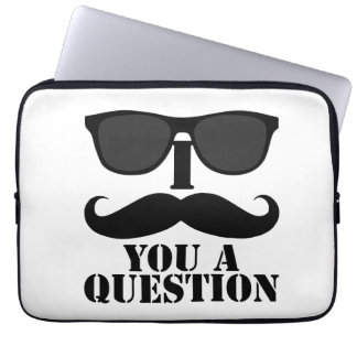 I Mustache You a Question Sunglasses Laptop Sleeves