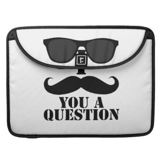 I Mustache You a Question Sunglasses Sleeves For MacBook Pro