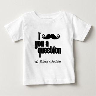 I mustache you a question tee shirt