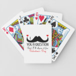 I mustache you a question Valentine's day Bicycle Playing Cards