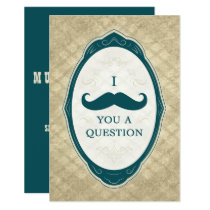 I Mustache You A Question Vintage Frame Card