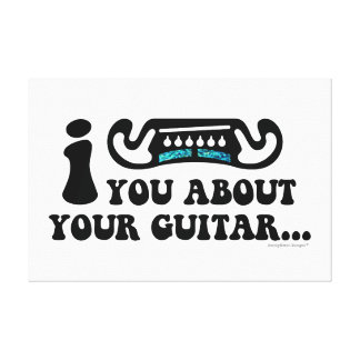I Mustache You About Your Guitar Canvas Print