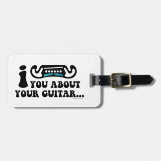 I Mustache You About Your Guitar Luggage Tag