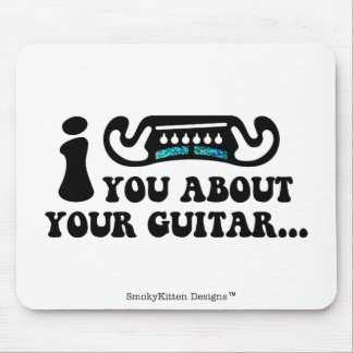 I Mustache You About Your Guitar Mouse Pad