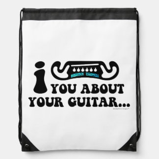 I Mustache You About Your Guitar Backpack